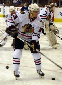 Patrick Kane of the Chicago Blackhawks. (Courtesy: Wikipedia)