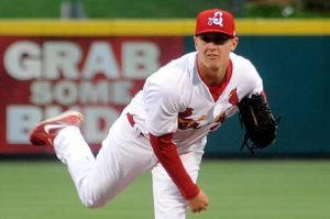 St. Louis pitcher Seth Maness as a member of the Springfield Cardinals. (Credit: Mark Harrell-Springfield Cardinals)