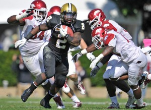 Vanderbilt running back Zac Stacy. (Photo:http://www.vucommodores.com)