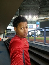 Cardinals pitcher Carlos Martinez at Miller Park. (Photo Via: Martinez's Twitter account)